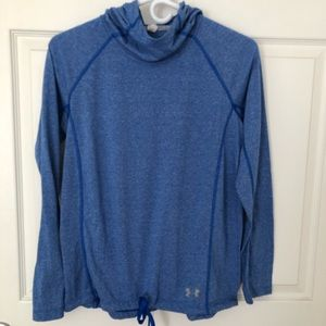 Under Armour Women's Heather Blue Pullover Hoodie